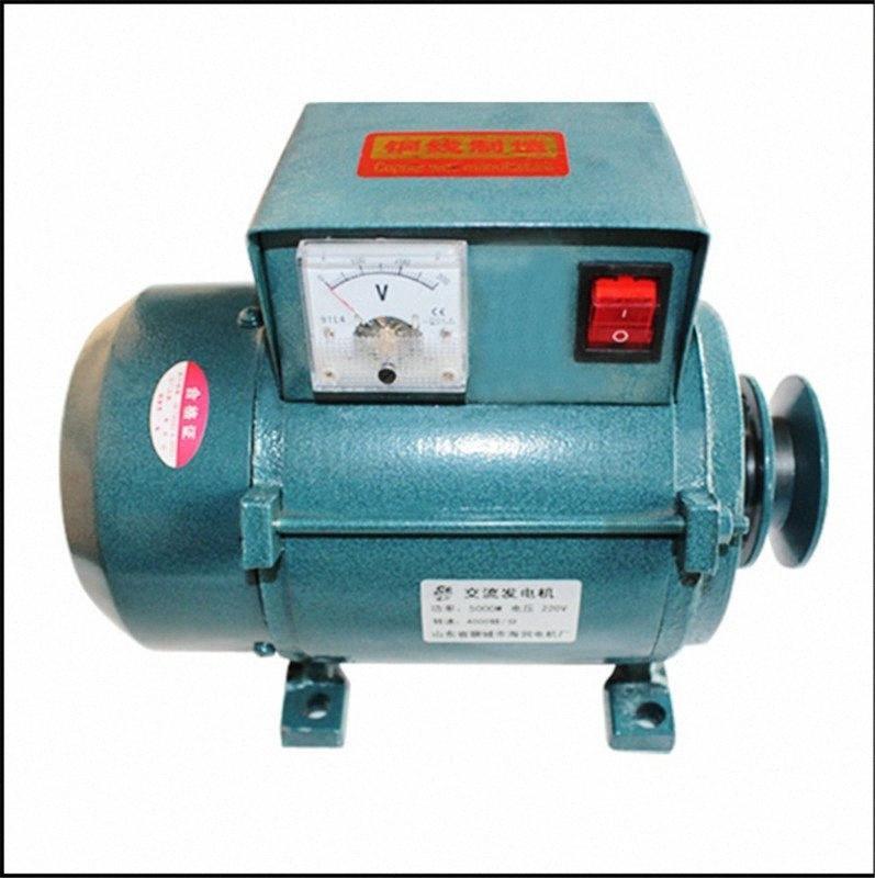 220V High Power 1000W/18000W/2200W Small Pulley Type Permanent Magnet Lighting Generator w6zW#