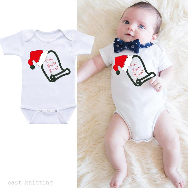 Cute Baby Rompers Cotton Baby Clothes Newborn Boys Girls Onesie 0-24M Short Sleeves Outwear Christmas Kids Tops Jumpsuits
