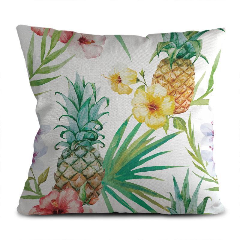 Nordic ropa de la cubierta verde almohada pequeña hoja de la planta fresca decoración del hogar sofá de casa sala de estar amortiguador de la almohadilla