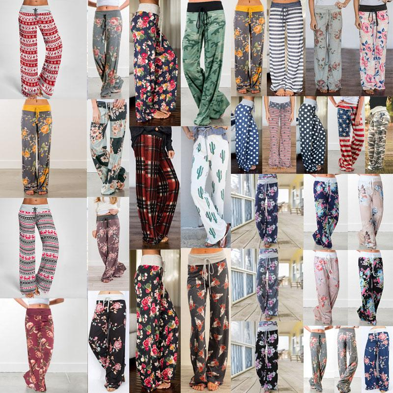 Autumn New Clothing Women's Leisure Trousers Pants Casual Loose Printed Pants Dance Running Long Gym Sports Pants