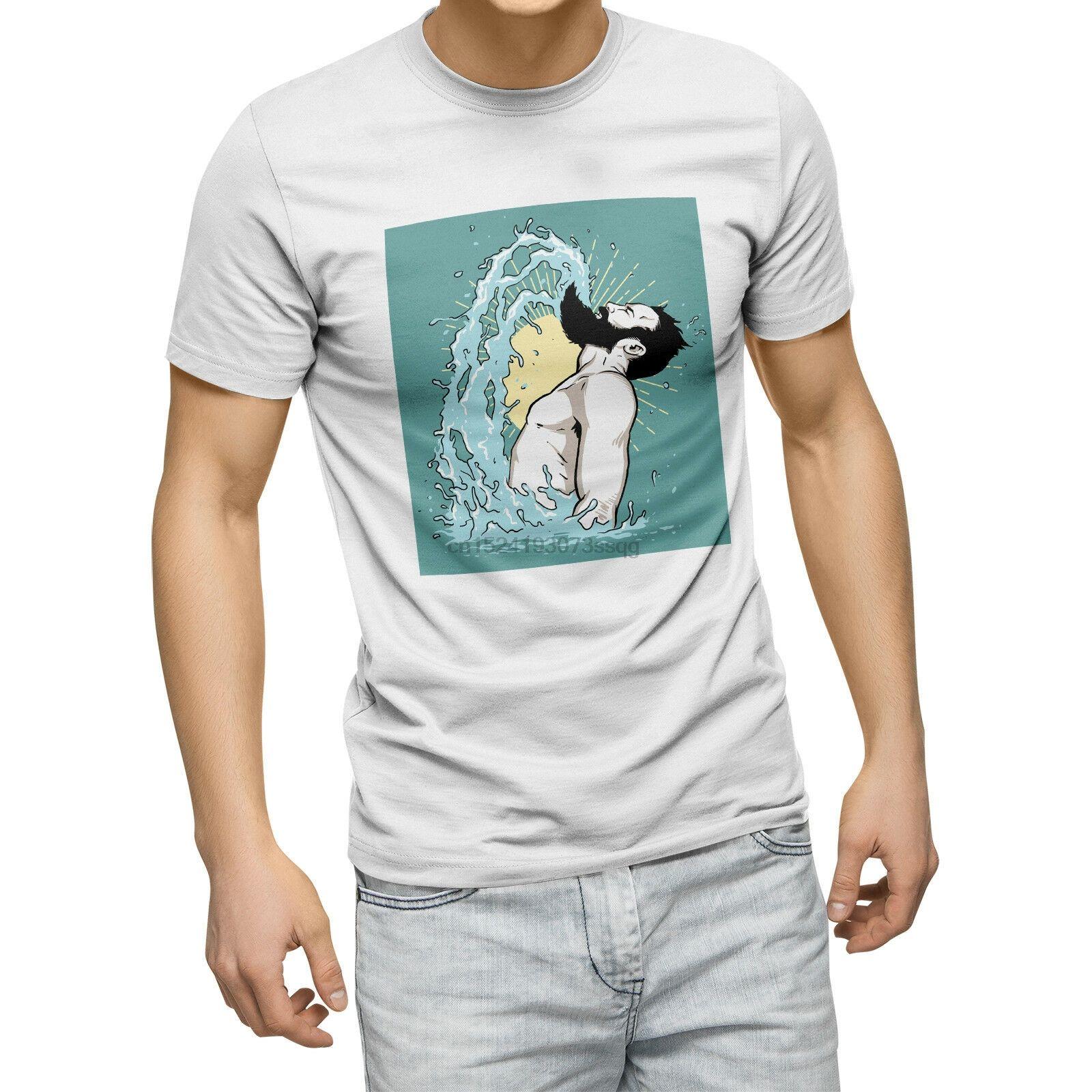 Борода Флип море Смешные Mens T Shirt Hipster Усы папа подарков Топ Байкер Geek