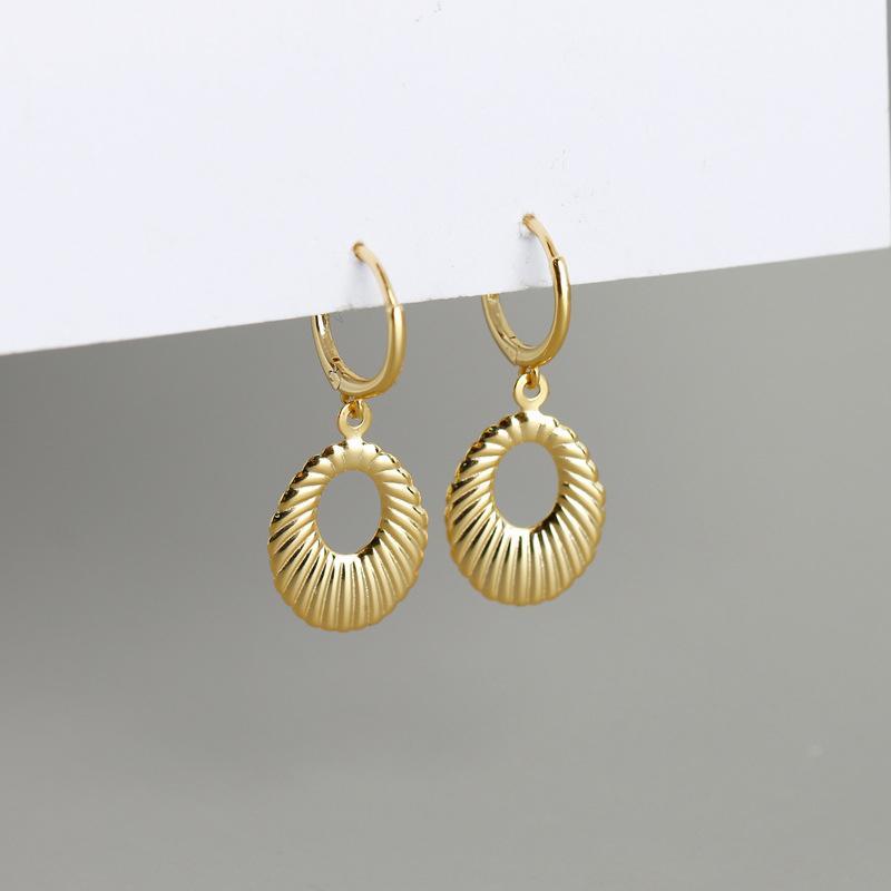 Argento 925 oro della Boemia di colore Opal Forma di goccia DSHELL Orecchino ad anello per le donne Orecchini Ear Piercing Orecchini 2020