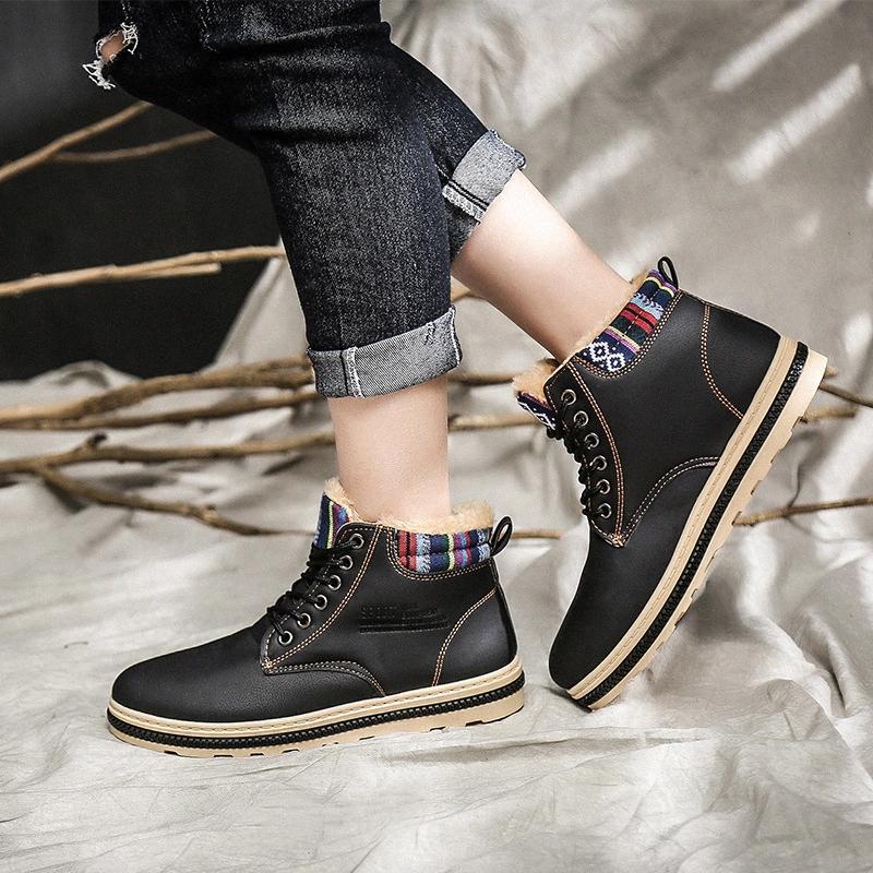 Artı Boyut Bay Bot Vogue Kış ayakkabı erkekler Botaş Hombre SrgG # Kış Boots Kar İçin Erkek Sneakers Ayakkabı Isınma