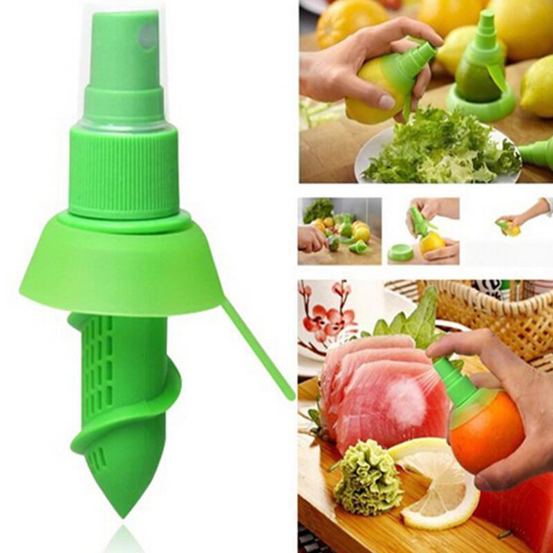 Squeeze Juicer Lemon Spray Mist Orange Fruit Squeezer Sprayer Kitchen Cooking Tool HHC1445