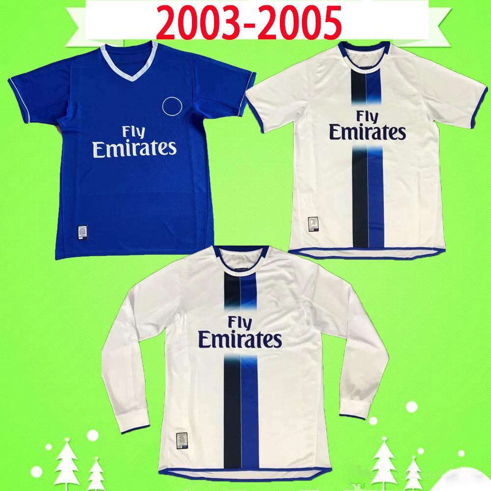 Chelsea Retro versione 2004 2005 maglia da calcio Camiseta maglia classica vintage 04 05 maillot camisetas Lampard Gudjohnsen Drogba Cole Robben