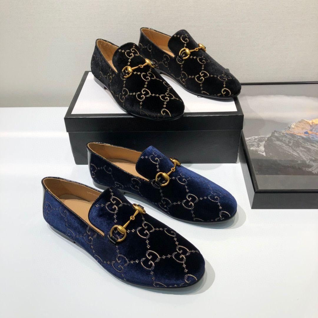 Marque Designer Hommes cuir de vache robe de chaussures de mariage costume formel Bureau Mocassins luxe Boucle Mors Mocassins Oxfords Casual