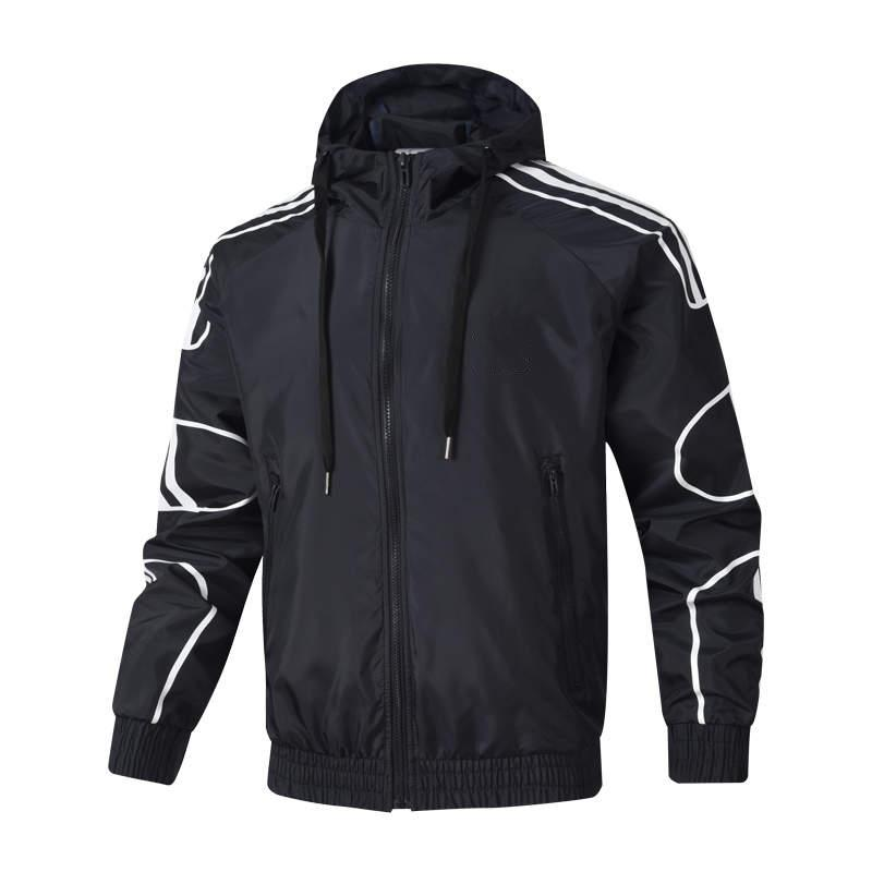 Escudo de la chaqueta con capucha para hombre de la moda Marca rompevientos cremallera Sudaderas Hombre Otoño Sportwear diseñador chaquetas 3 colores L-4XL mayorista