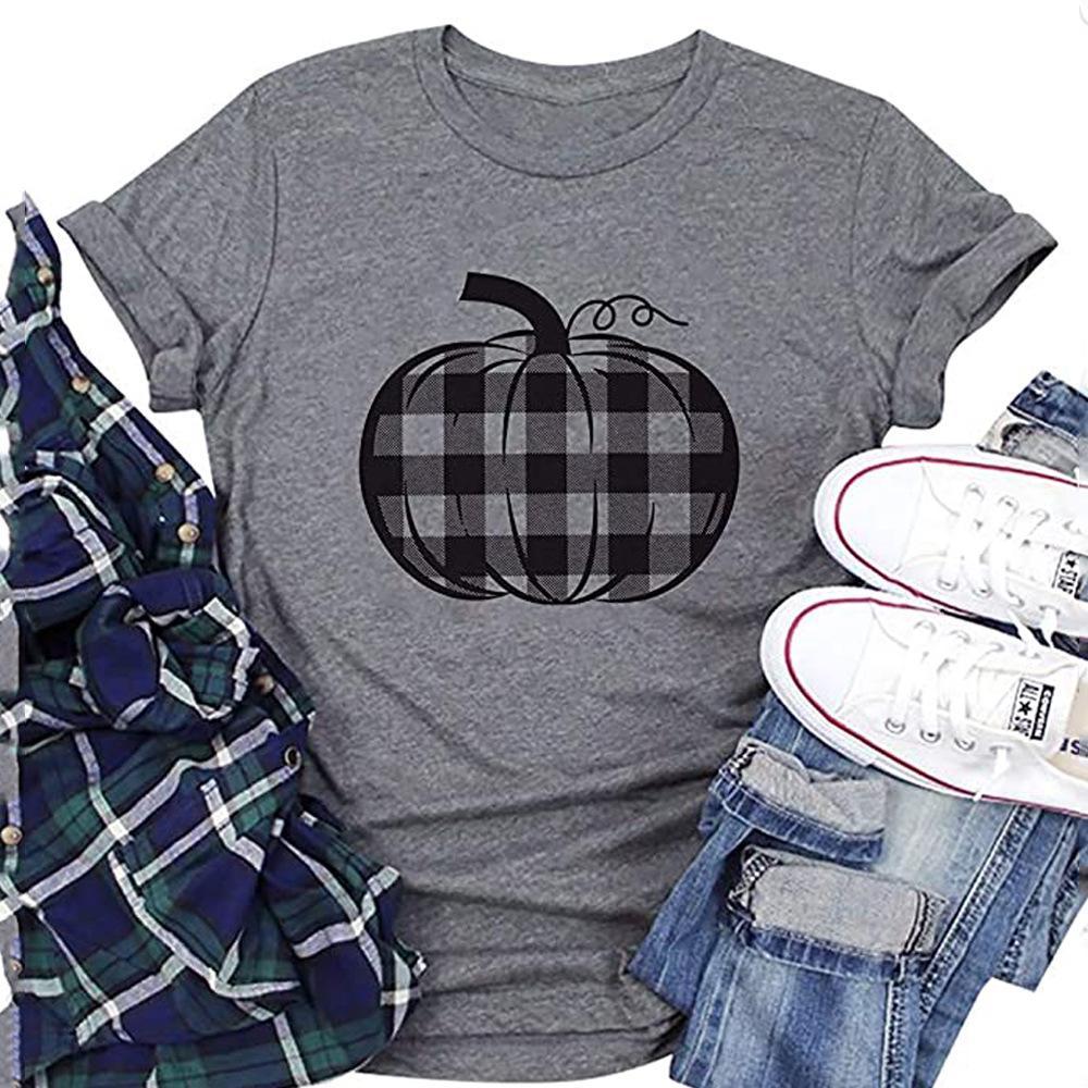 De Halloween camiseta de la impresión de manga corta diseñador de las mujeres camisetas Adult Clothing