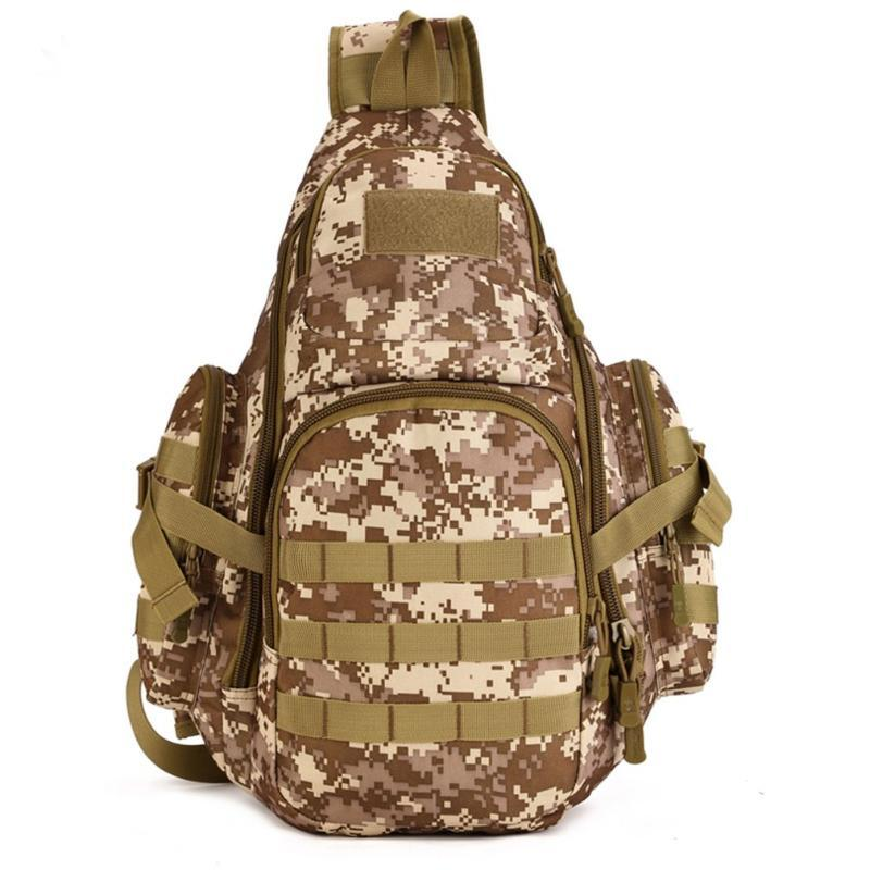 Durable Multifunction Shoulder Bag Tactical Chest Bag Waterproof Cycling Backpack Nylon Travel for Camping Hiking