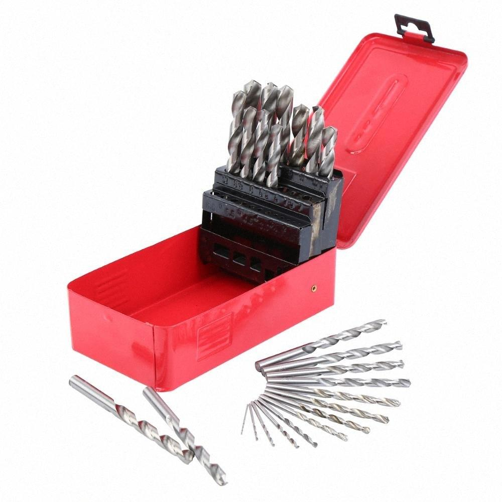 Yonntech 25pcs/Set Twist Drill Bit Set HSS DIN338 Drill Bit 1-13mm for Woodworking Metal GWaX#