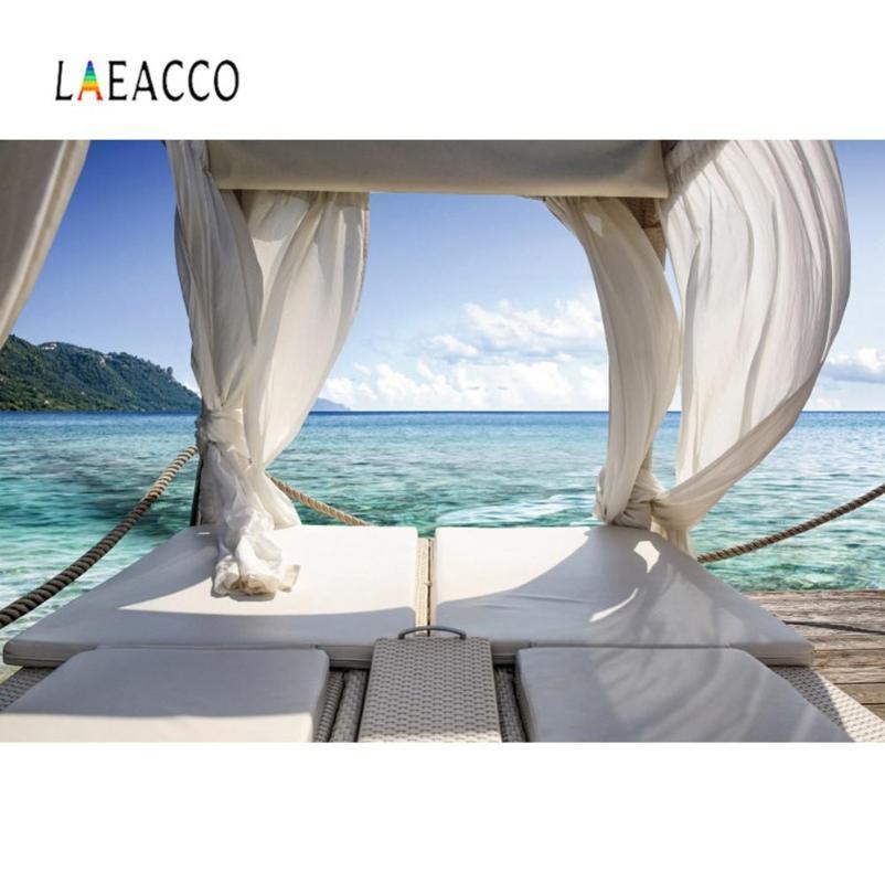 Sfondo tropicale Estate Fotografia In vista Camera cortina Mare Holiday Island Scenic Foto Sfondo Photocall Photo Studio