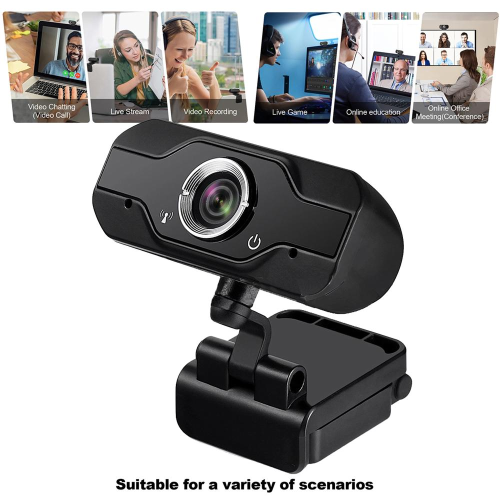 1080P Webcam HD Web Camera with Built-in HD Microphone 1920 x 1080 USB Web Cam Widescreen Video