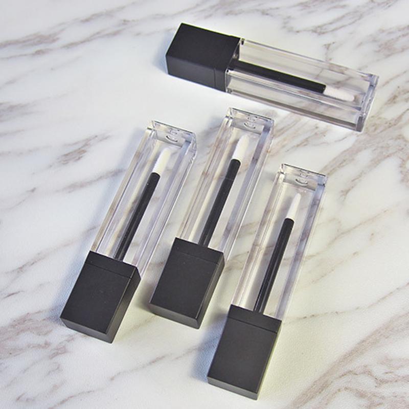 Vaciar claro tubo de brillo de labios Bálsamo labial Botella de contenedores 7 ml tubo transparente de plástico de labios Crema elegante 200pcs / lot