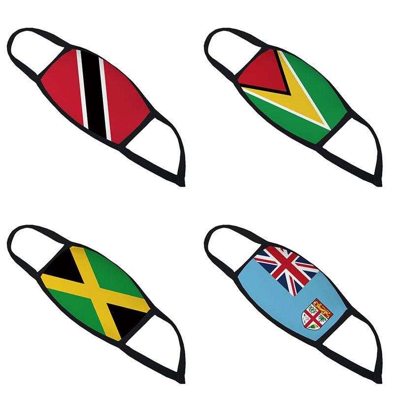 3D stampata vento Trinidad Guyana Giamaica Fiji Flag e polvere del respiratore di design maschera di protezione transfrontaliere faccia traspirante maschere GWF1894
