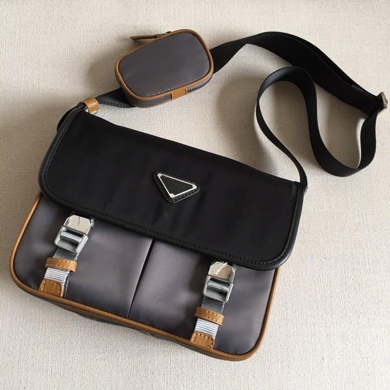 2020 Moda Erkek Crossbody Çanta P Sokak Spor Stil Renkli Blok Messenger Çanta Çok fonksiyonlu Ayrılabilir Unisex Omuz Çantaları