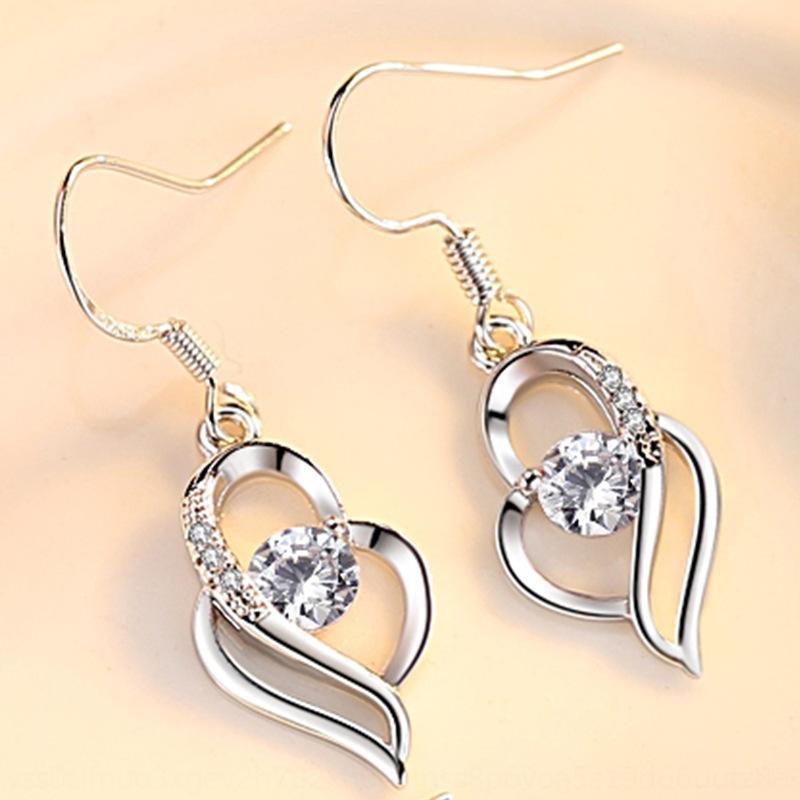 FMCZ8 cuore a cuore di stile coreano monili eardrop eardrop e orecchini orecchio gancio amore orecchini di temperamento