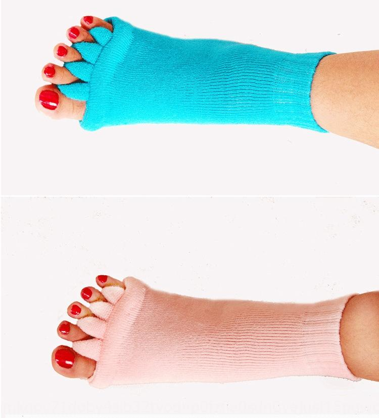 Women's massage five-finger acrylic cotton Japanese health massage yoga toe socks open toe socks correction thumb valgus q9d0w