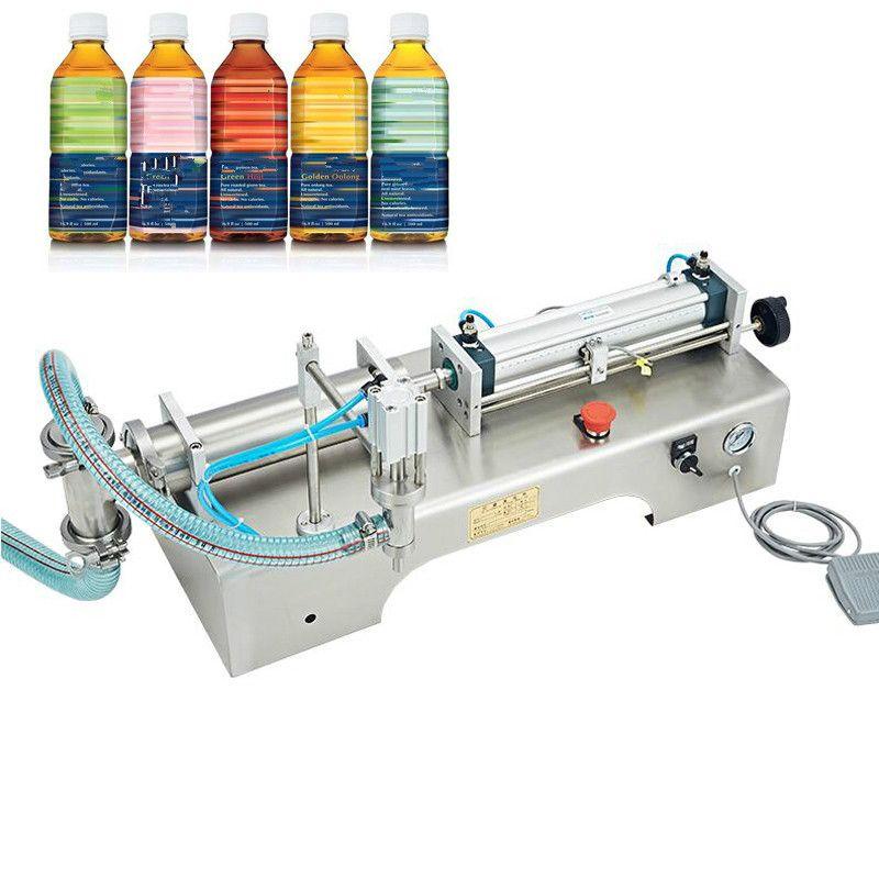 Eléctrica máquina de enchimento de líquido operada com o pé 110V220V pneumático-única cabeça de máquina de enchimento horizontal aço inoxidável máquina de enchimento