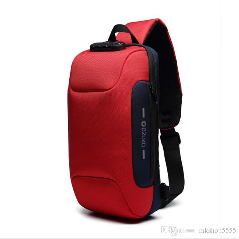 2020 Oxford cloth chest bag for men casual messenger bags fashion men's chest pack large capacity Business bag's AV. SLING BAG D.GRAP. N4171