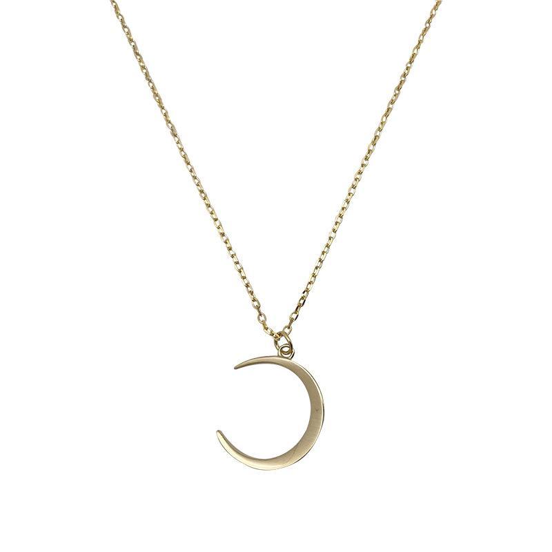 Цепи Moon Clavicle Chain в серебре 925 с простым нишевым дизайном INS Морозное ожерелье для модной моды Женщины Женские подарки