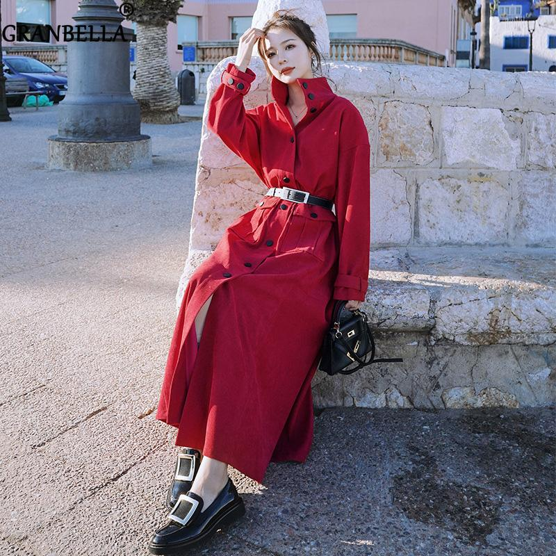 Mi-longueur taille manteau d'automne pour les femmes jeunes femmes Trench confortable pour les femmes Nouveau élégant vêtement coupe-vent