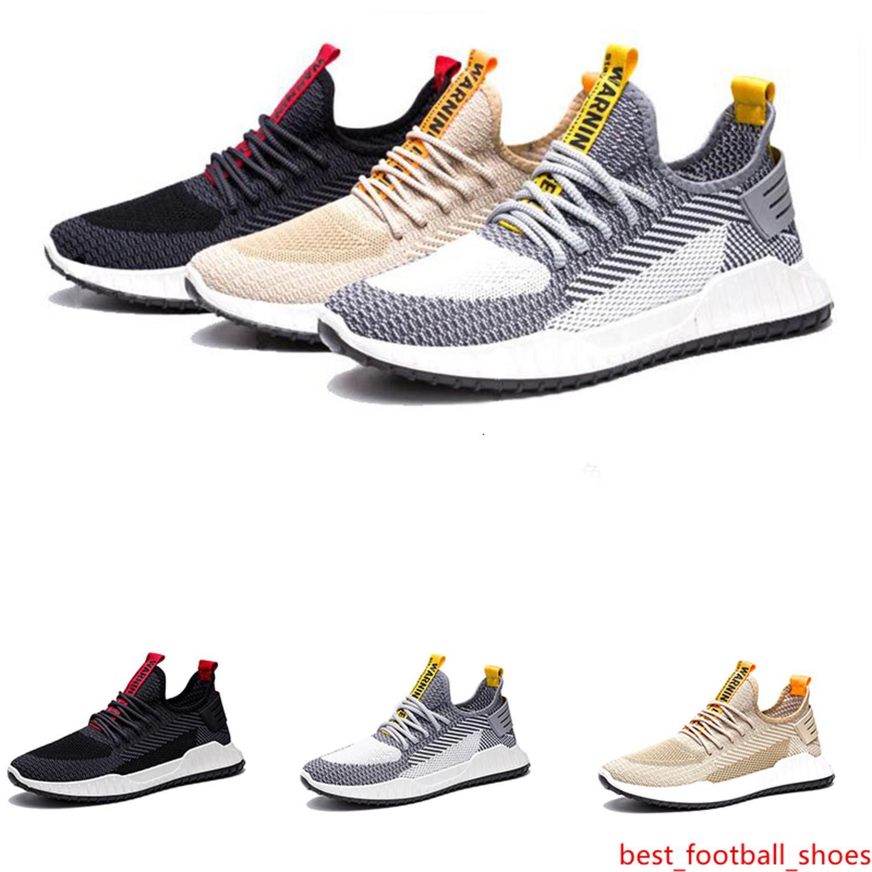 hombres al por mayor transpirable zapatillas gris negro para hombre de la moda caqui entrenador de deportes de los hombres atléticos zapatilla de deporte de tamaño 39-44 estilo 1