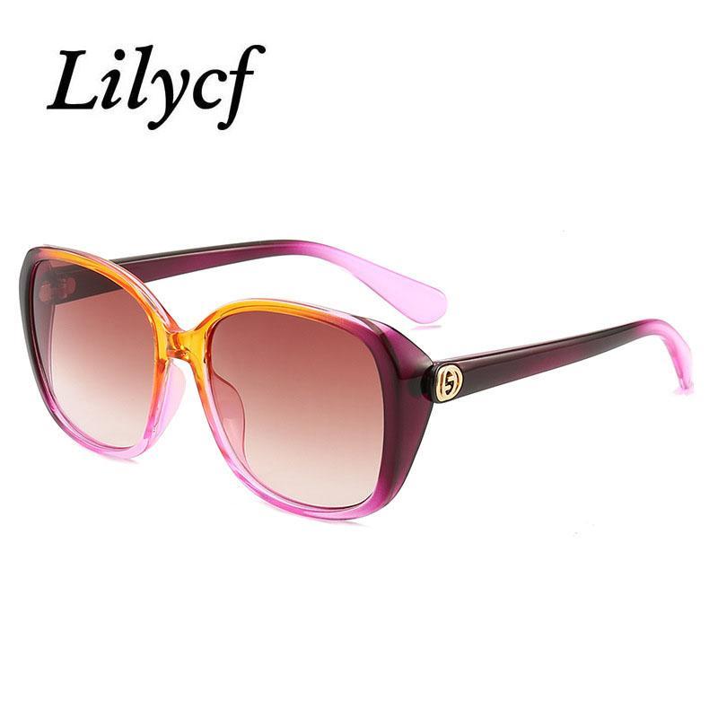 2020 New Shade Sonnenbrille Fashion Personality-Platz Ozean Stück Farbe Gläser Frauen-Marken-Entwerfer-Sonnenbrille UV400