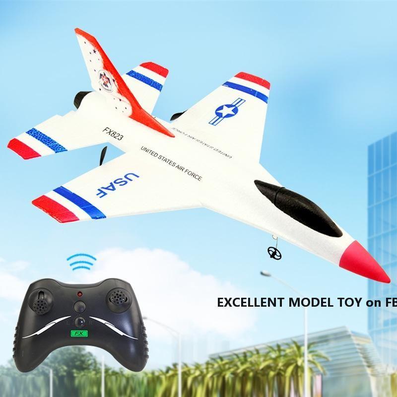 SU35 2.4G Fernbedienung Feste Flügelgleiter, DIY Pädagogisches Flugzeug Spielzeug, Stalkleistungsresistent EPP-Material, für Weihnachtskind-Geburtstags-Boy-Geschenk