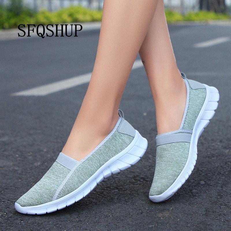 Été Femmes Sneakers Chaussures Femmes Chaussures Mesh respirant Ballerines femme Slip Flats Mocassins Plus Size 43 FSK4 #