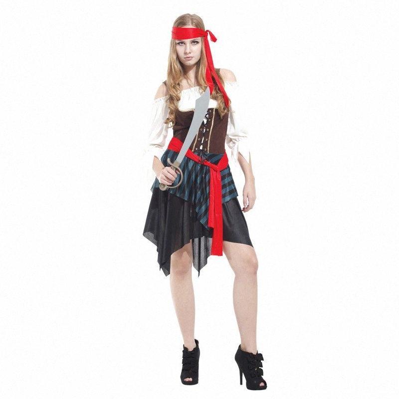 Cabeza de adulto bufanda del traje del pirata de Halloween Belleza Purim Carnaval Año Nuevo de lujo del partido de la mascarada de vestir SBSO #