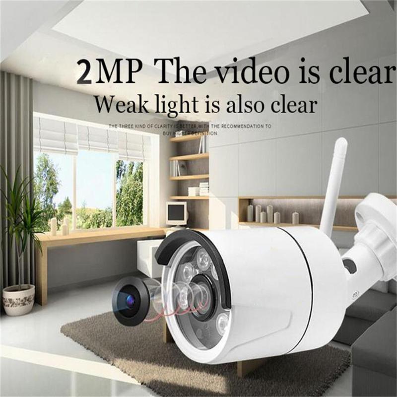 1080P al aire libre / cámara movimiento de la visión interior de la cámara de vigilancia IP Doméstica Seguridad Noche Con la tarjeta SD Wi-Fi inalámbrica con conexión de cable CCTV P2P