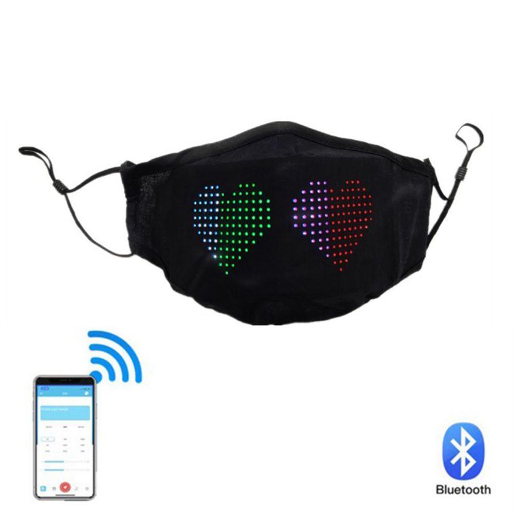 LED Magic Mask App Contreamed Bluetooth LED Face Veil Cover Украшения Беспроводной USB Аккумуляторная батарея Светодиодная Сообщение Magic Party Masquerade