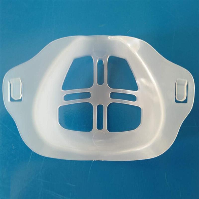 سيليكون هلام الوجه قناع حامل قابلة لإعادة الاستخدام غطاء الفم واضح دعم حامل المساعدة التنفس مكافحة الخنق قابلة للغسل السيليكون يتصاعد