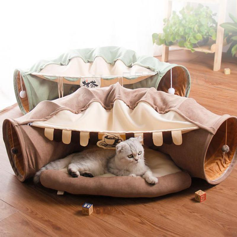 Cat Tunnel Pet Cat Bed Channel Roll Totoro Nest Four Seasons Universal Funny Toy Removable And Washable