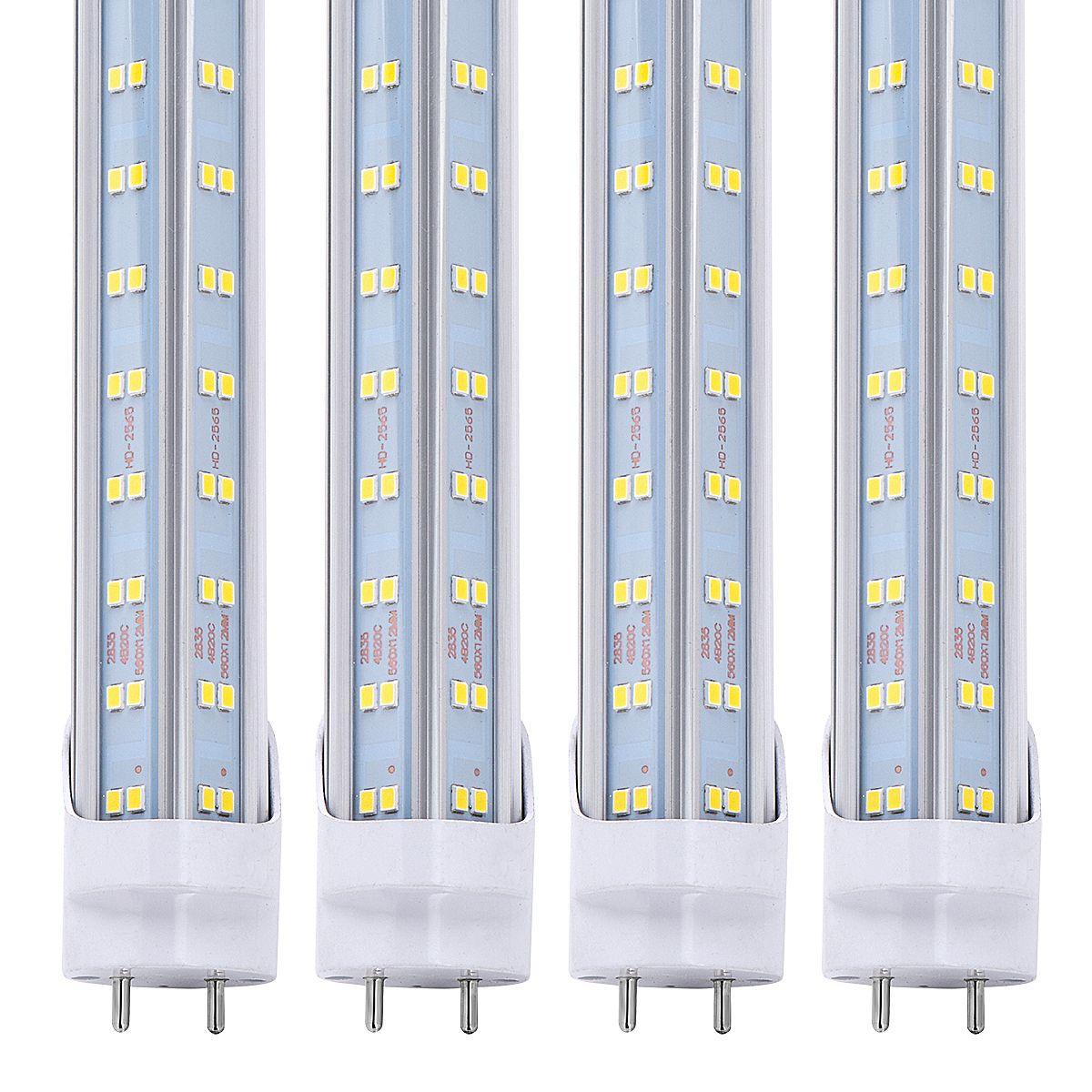 4ft LED Ampul Işık 4 Ayaklar LED Tüp 60W T8 Floresan Işık 6000K Soğuk Beyaz Fabrika Toptan 60W led dükkan ışık V Şeklinde