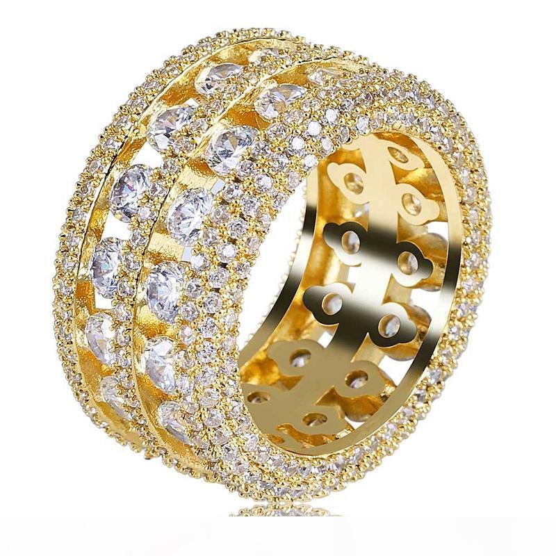 Mens Hip Hop para fora congelado Anéis Moda de Nova anel de casamento jóias de qualidade Simulação Diamond Ring alta