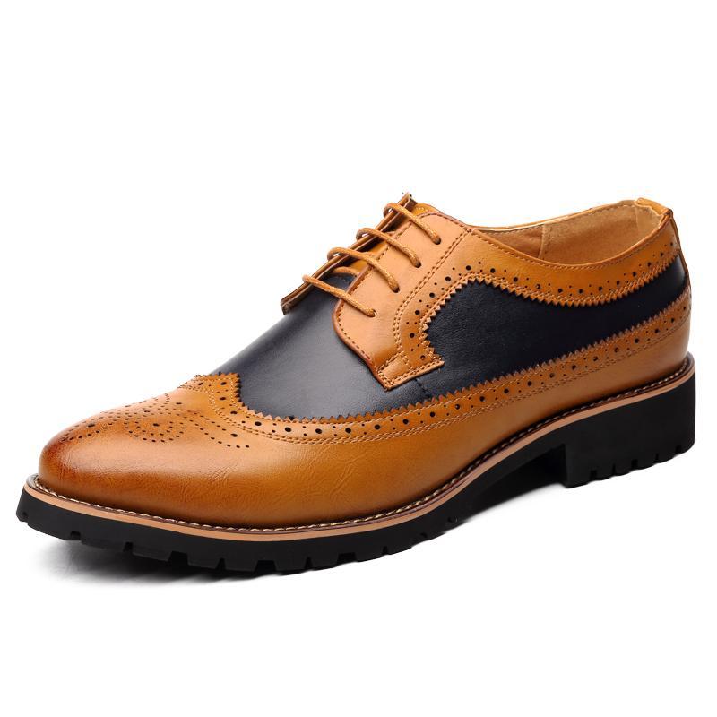 Oxford Shoes Men brogues sapatos de amarrar Bullock Negócios Wedding Dress Masculino Formal