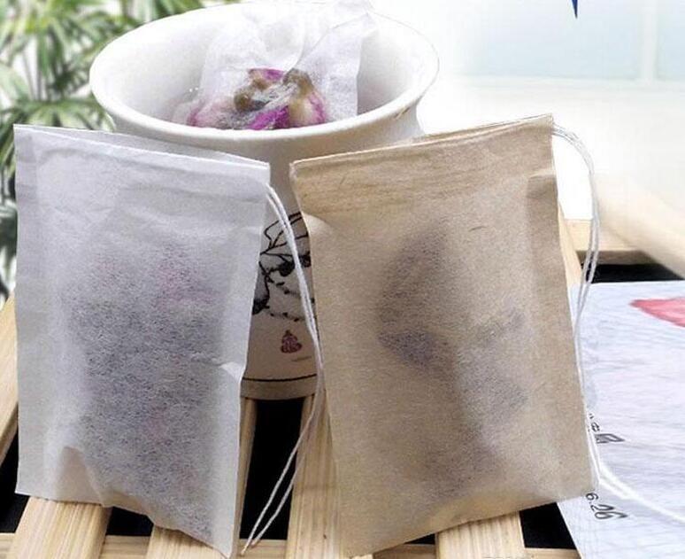 60 X 80 mm Zellstoff Filterpapier Einweg Teesieb Filter Bag Einzel Kordelzug Heile Seal Teebeutel Keine Bleichmittel Go Green # 4902