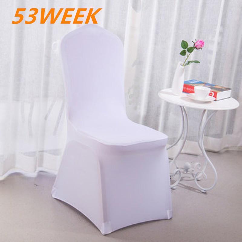 53WEEK Производители оптового свадебного банкета отель гостиница крышки стул стрейч белое все включено крышка стула утолщенной 2020
