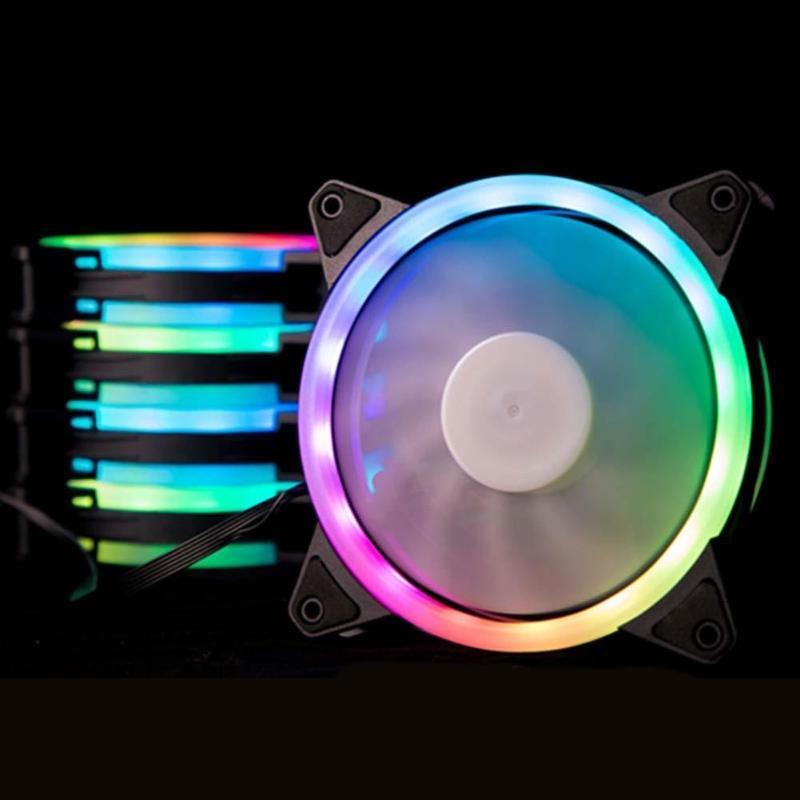 Refroidissement FANS RGB ventilateur 120mm 6pin Télécommande LED Couleur de la couleur Changement de couleur chauffage de chaleur pour boîtier informatique de bureau
