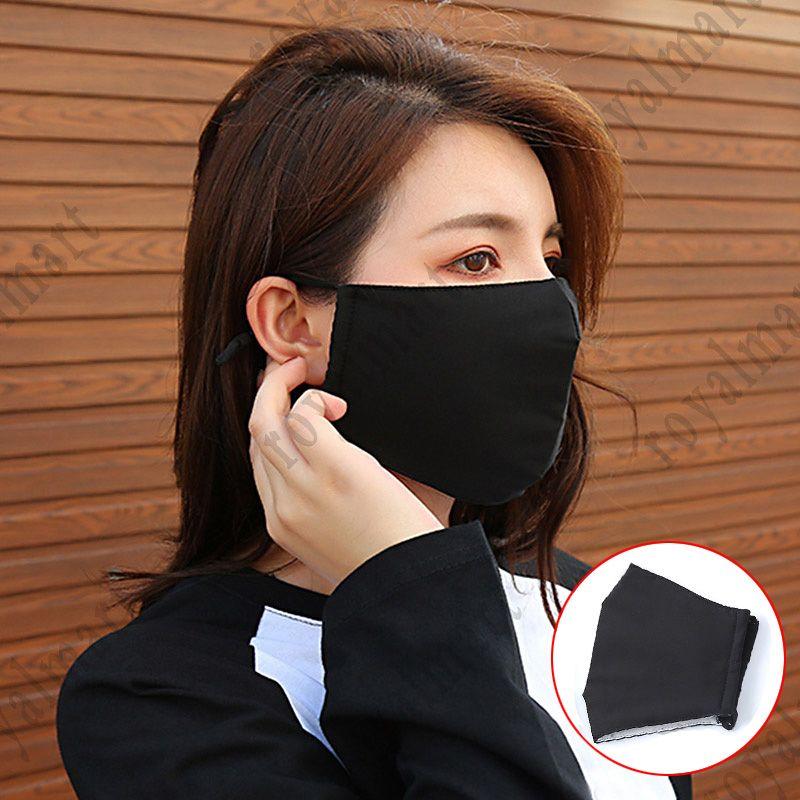 Cara preta Máscara Adulto Anti Poeira Cotton Mouth Cover for Cycling Camping Viagem Mask boca do algodão capa lavável reutilizáveis Rosto EWD959