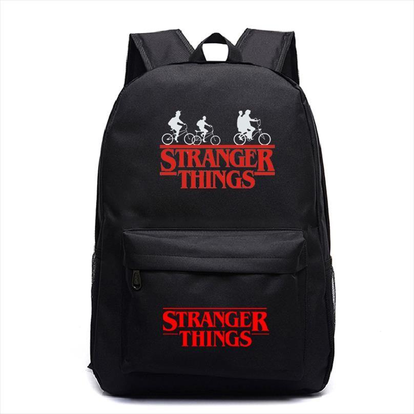 Stranger Things Viagem Mochila crianças bonito Mochila novo padrão Rapazes Meninas Adolescentes Escola Mochila Laptop sacos para mulheres dos homens