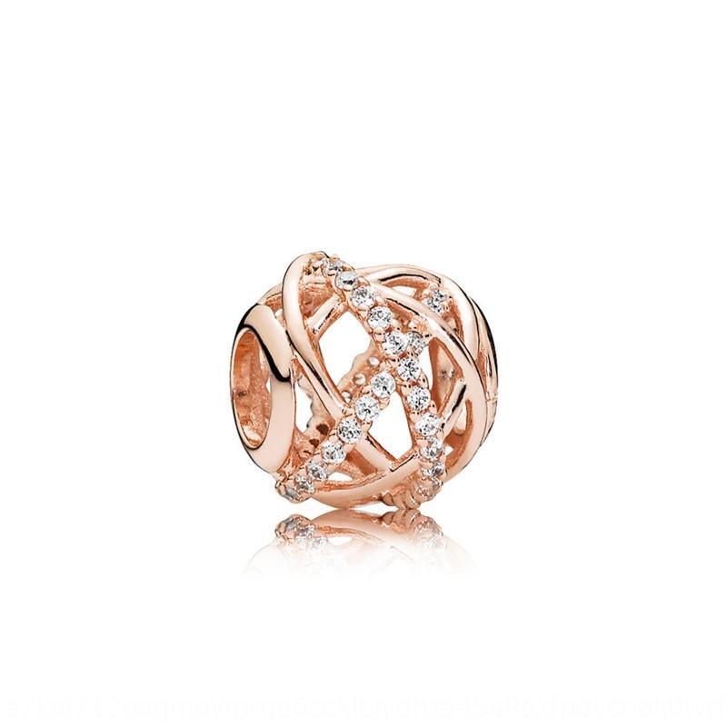 dNoHR Panjia новая роза S925 серебро алмаз инкрустированные цветок открытые полые Galaxy Diy бусы передачи золотой браслет золотой браслет DIY Acces