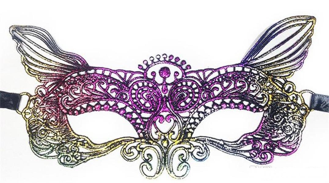 Маски Halloween Dazzle Lace Цветого Золочение патч Half макияж Масленица Party Mask 2 3XN Ii