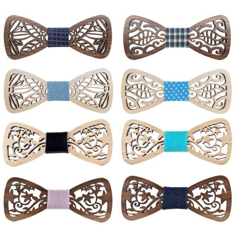 cgjxs New Holz Fliege Herren Holz Bow Ties Gravatas Corbatas Geschäfts-Schmetterling Krawatte Partei-Krawatten für Männer Holz