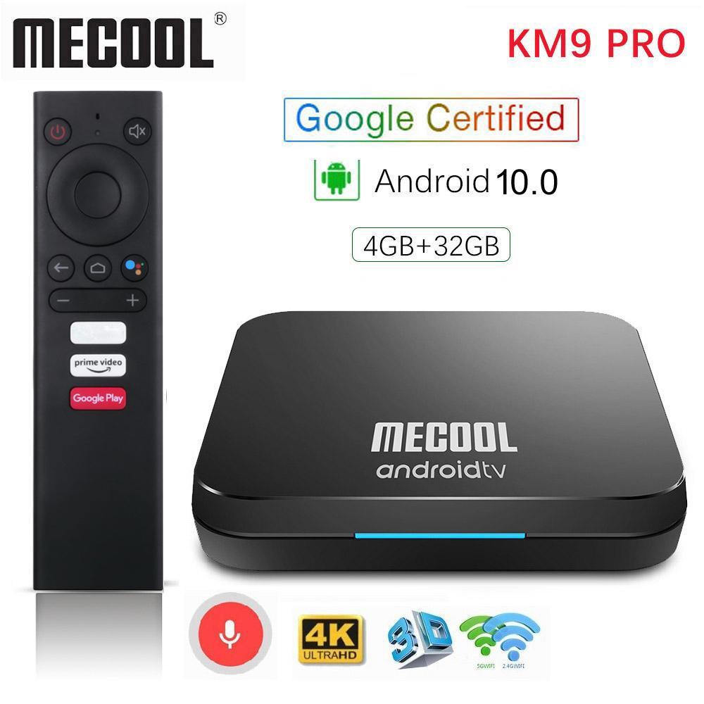 Mecool KM9 Pro ATV 4G 32G Android 10.0 TV Box Google 인증 Amlogic S905X2 2.4G / 5G WiFi AndroidTV 스마트 TVBox