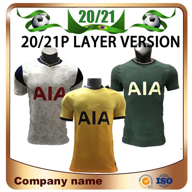 20/21 Player version Spurs Accueil BALE SON Football Maillots 2020 Loin KANE LLORENTE DELE football chemise LUCAS personnalisée football uniforme