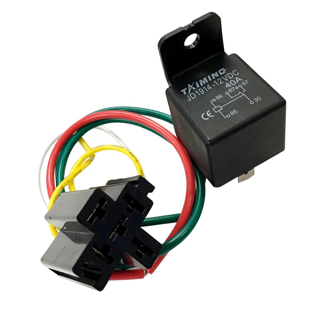 40A / DC12V SPDT 5-Pin 5 Wire Автомобильные Автомобильные реле Провода жгута проводов Торцевые