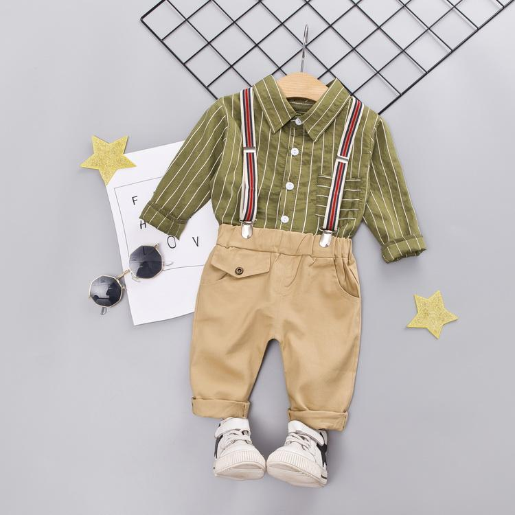 2pcs Kids Boys Clothing Set Toddler Kids Ropa Manga larga Tops y pantalones Fiesta Fiesta de los niños Suits1-4T