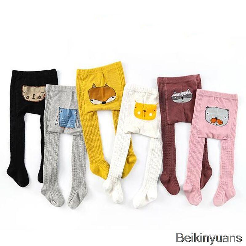 high quality Cartoon pantyhose boy girl animal print cotton child baby socks children long legs warm children's clothing accessories